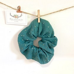 Pochette à barrettes personnalisable en lin et cotonnade origami esprit graphique