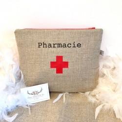 Trousse à pharmacie en lin...
