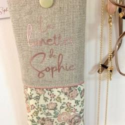 Ballotin en lin rose poudré, Liberty Wiltshire Pois de senteur