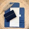 Trousse de toilette personnalisable en lin et Liberty Wiltshire Pois de senteur