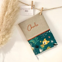 Trousse de toilette personnalisable en lin et Liberty of London Adelajda multicolor